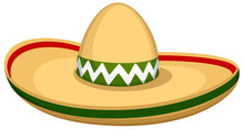Vector Illustration Of A Sombrero Hat.