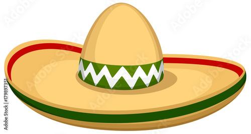 Fotografie, Obraz  Vector illustration of a sombrero hat.