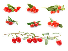 Collage With Goji Berries On W...