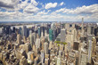 Aerial picture of New York City skyline, USA.