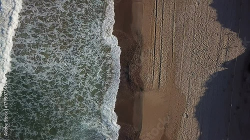 Fotografie, Obraz  View of the sandy beach from the air
