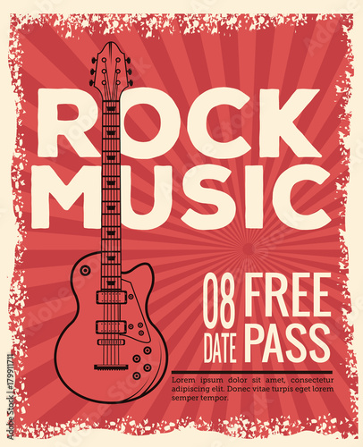Rockowa musica festiwalu ulotki ikony wektorowy ilustracyjny graficzny projekt