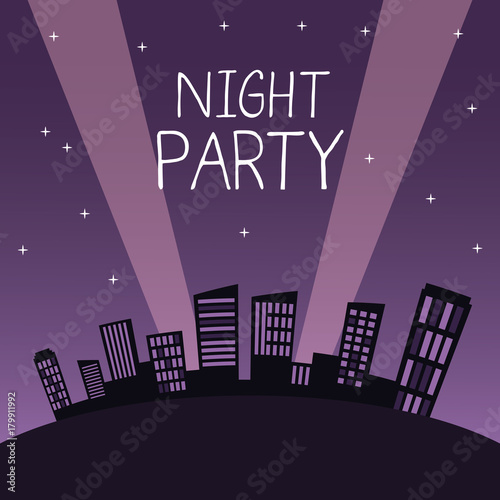 Obraz City night party icon vector illustration graphic design - fototapety do salonu