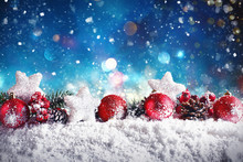 Christmas Composition With Bal...