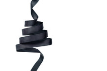 Black Ribbon In Shape Of Christmas Tree