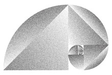 Stippled Fibonacci Spiral - Ve...