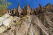 Amazing Autumn Landscape of Rock Formation Devil's town in Radan Mountain, Serbia