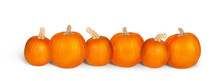 Six Fresh Pumpkins Isolated Wi...