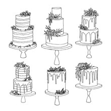 Vector Sketch Of Trending Wedd...