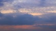 Evening twilight sky