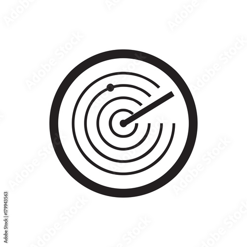 Fotomural  radar icon illustration
