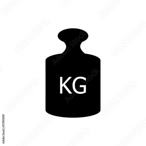 Fotografia  Kg vector icon