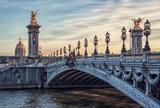 Fototapeta Fototapety Paryż - Alexandre III bridge in Paris