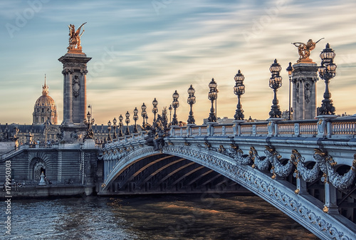 Obraz Alexandre III bridge in Paris - fototapety do salonu