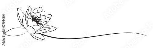 Fototapeta lotus Logo.