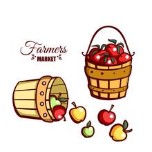 Farmers Market Apples Tomatoes