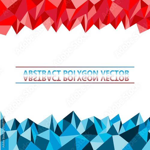 Abstract Polygon Red And Blue Vector Background Buy This Stock