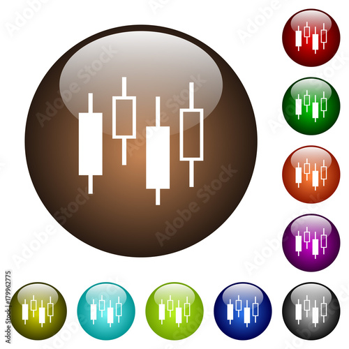 Candlestick Chart Color Glass Buttons Buy This Stock Vector And