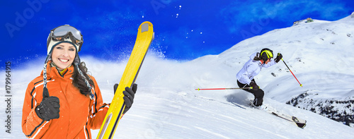 Fotomural Ski resort