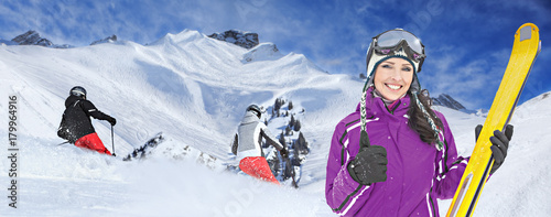 Cuadros en Lienzo Ski resort