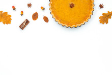 Festive Homemade Pumpkin Pie O...