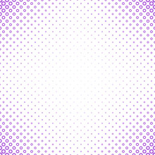 Geometrical Halftone Circle Pattern Background - Vector Graphic From Purple Rings On White Background
