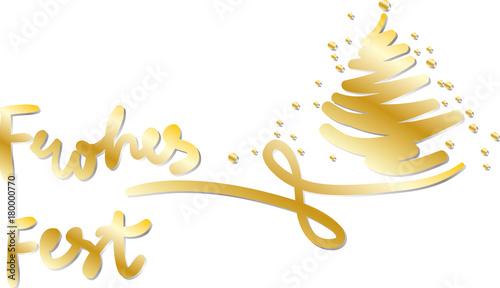 Buchstaben Frohe Weihnachten.Frohes Fest Frohe Weihnachten Handschrift Handlettering Goldene