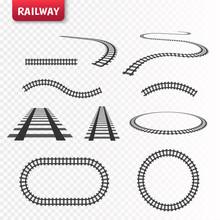 Vector Rails Set. Railways On ...