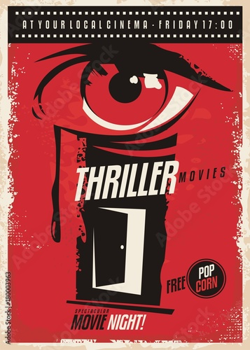 Photo  Thriller movies marathon retro poster design idea