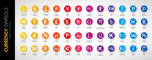 Currency Icons Vector Flat Ill...