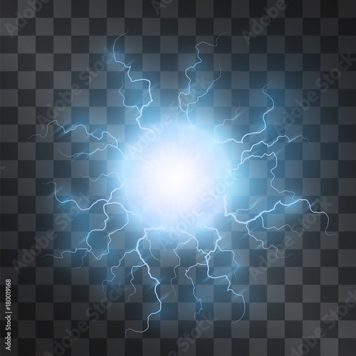Plasma light effect vector  Energy charge, static electricity