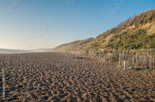 Dunwich beach in the morning. Wallpaper Mural
