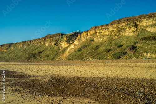 Dunwich cliff erosion. Canvas Print