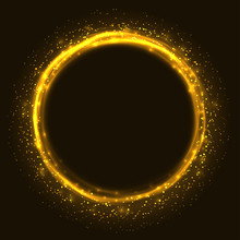 Abstract Orange Glowing Ring