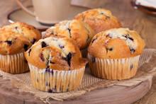 Golden Brown Blueberry Muffins...