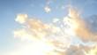 beautiful sunset clouds in blue sky timelapse
