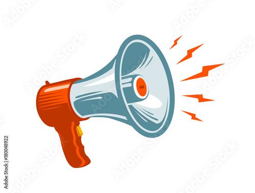 Fotografía  Megaphone, loudspeaker, mouthpiece symbol or icon