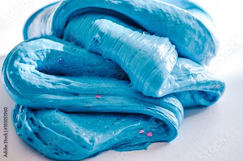 Fotografía fluffy blue slime