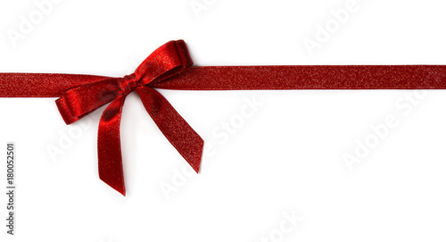 Fotografie, Obraz  Red ribbon with a bow