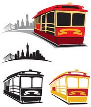 Cable Car Trolley Vector Illus...