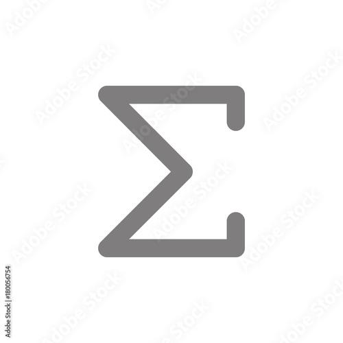 Fotografie, Obraz  Sigma greek letter icon