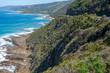 Rocky, wild coastline along the Great ocean road, Victoria, Australia
