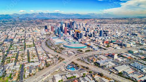 Obraz na płótnie Zdjęcia lotnicze z centrum Los Angeles, ca.