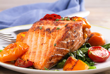 Salmon Fillet With Spinach And...