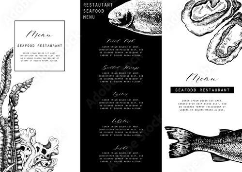 Hand Drawn Fish Illustration Vector Template With Hand Drawn