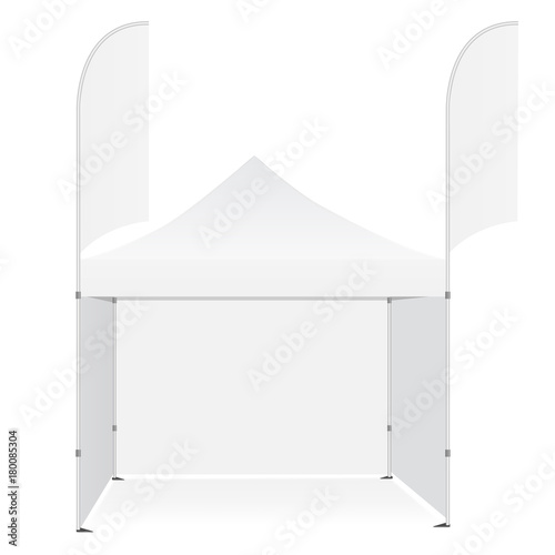 Promotional outdoor pop up canopy tent with flags banners