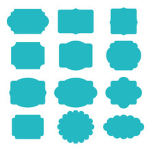 Vector Set Of Decorative Vintage Tags, Frames For Scrapbook And Wedding Invitation Design. Winter Collection