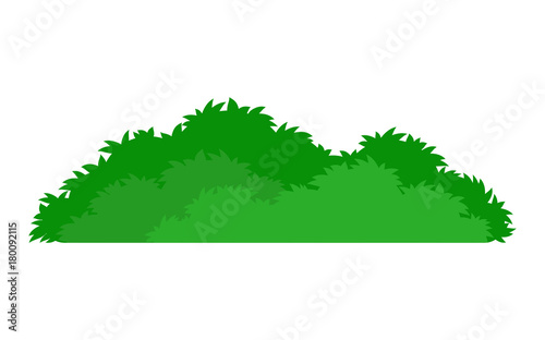 green stylized bush icon Wallpaper Mural