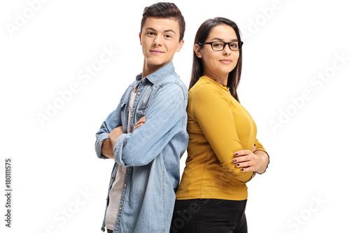 Teenage boy and a teenage girl