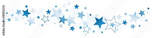 Obraz Border Dark Blue Stars - fototapety do salonu
